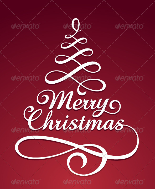 Merry christmas typography - Christmas Seasons/Holidays