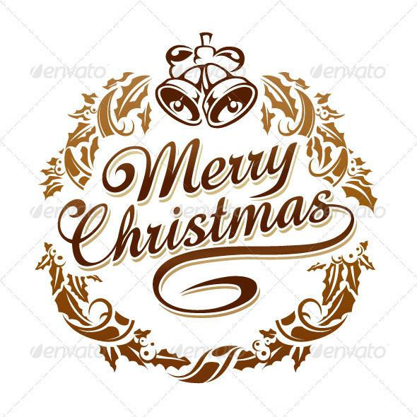 Merry christmas typography - Christmas Seasons/Holidays