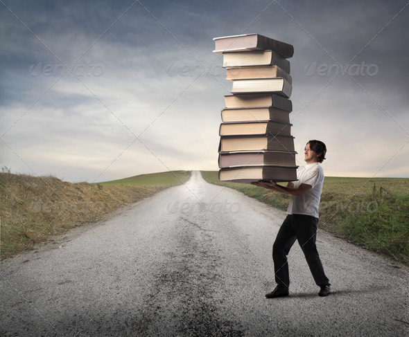 Book Weight - Stock Photo - Images