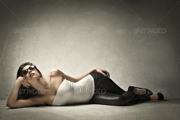 Beauty Lying - Stock Photo - Images