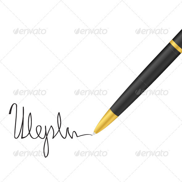 Ballpoint pen and signature - Concepts Business