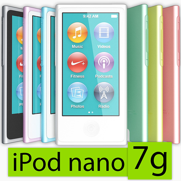 Apple iPod nano 7g - 3DOcean Item for Sale