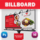 Restaurant Business Billboard - GraphicRiver Item for Sale