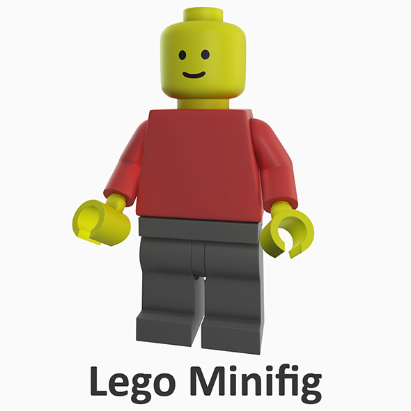 Lego Minifig - 3DOcean Item for Sale