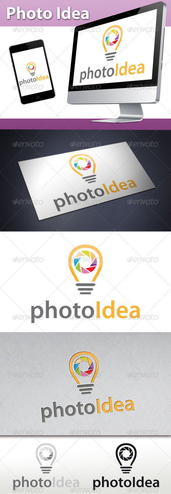 Photo Idea Logo - Objects Logo Templates