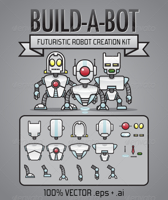 Build-A-Bot Kit - Characters Vectors