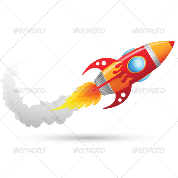 Rocket Flying - Objects Illustrations