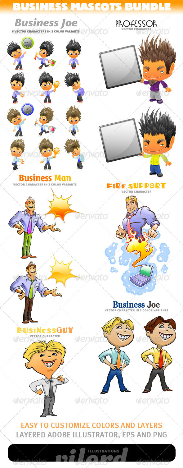 Business Mascots Bundle - People Characters