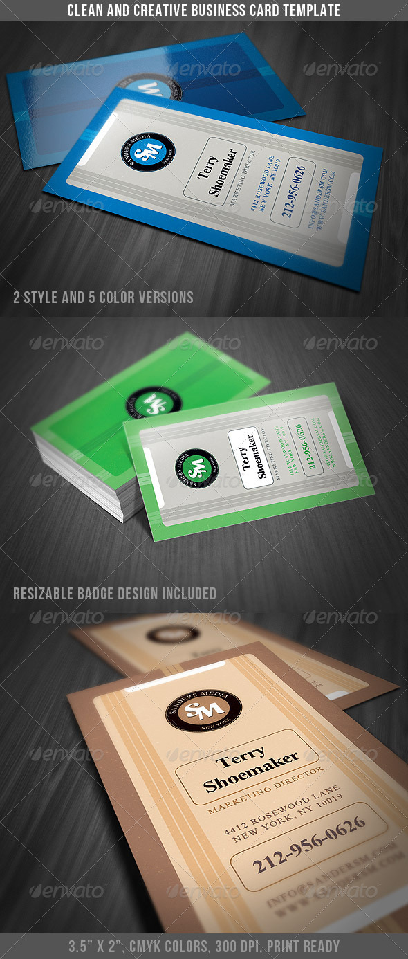 Clean & Creative Business Card - Corporate Business Cards