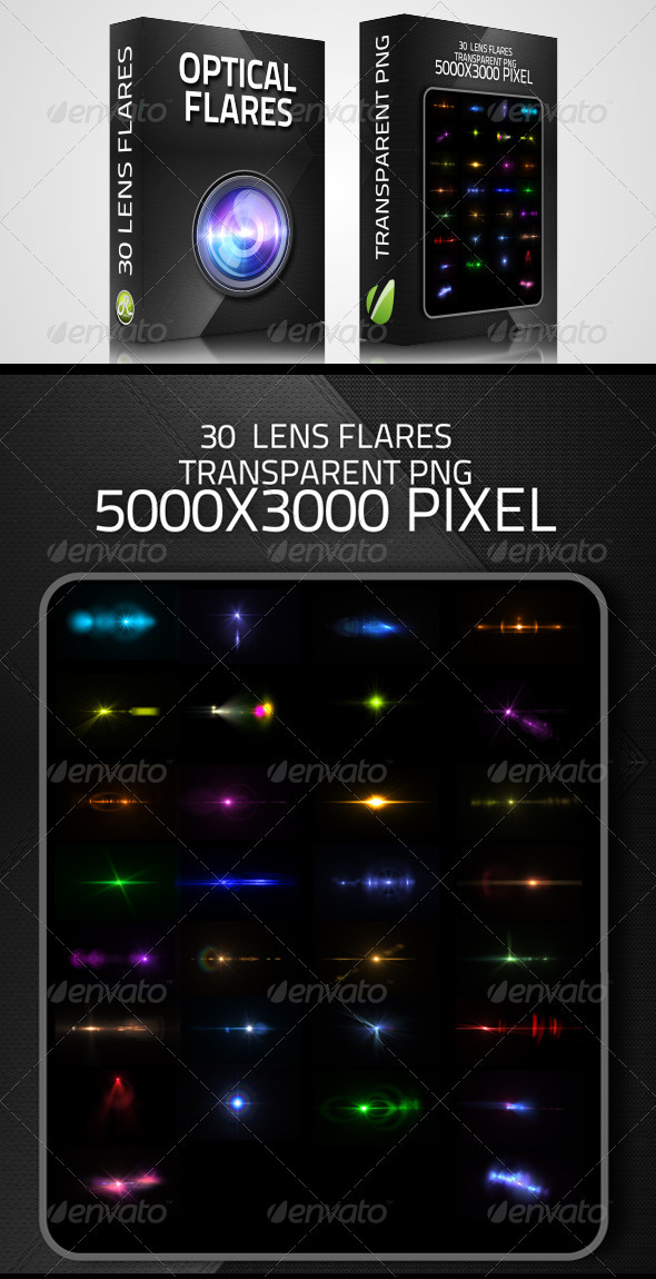 Optical Flares - 30 Lens flares - Decorative Graphics