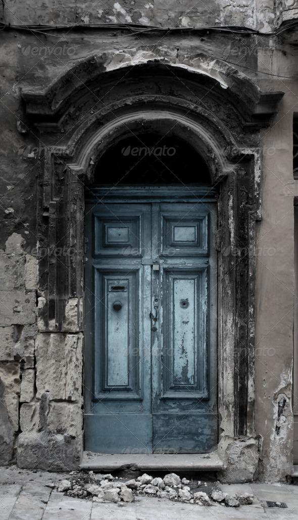 Blue Door - Stock Photo - Images