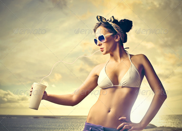 Drink on the Sea - Stock Photo - Images