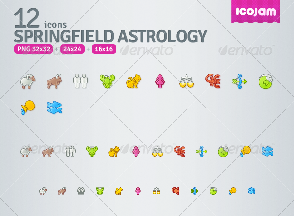 Springfield Astrology - Web Icons