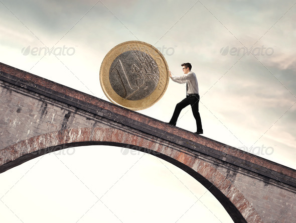 Euro on a Bridge - Stock Photo - Images