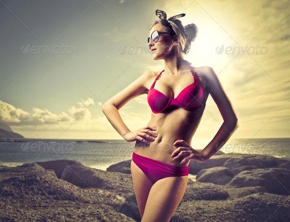 Red Bikini - Stock Photo - Images