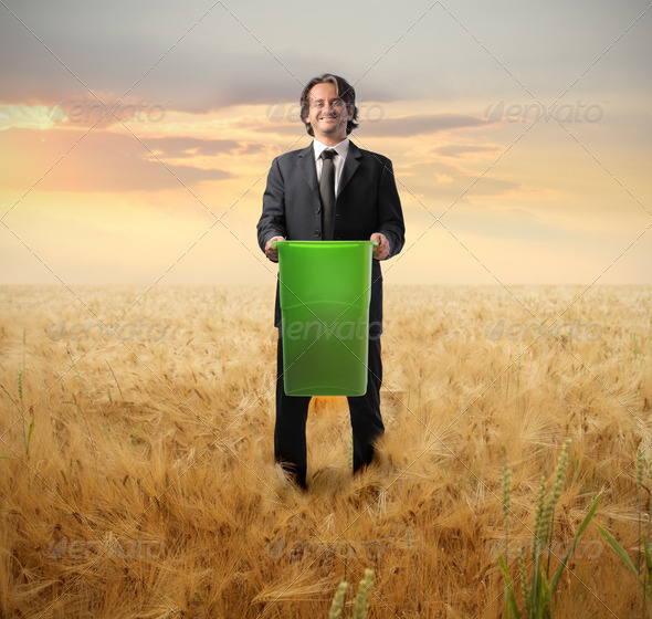 Ecologic Businessman - Stock Photo - Images