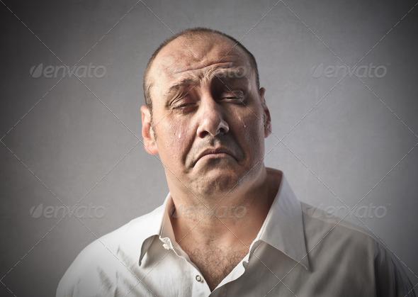 Crying Man - Stock Photo - Images