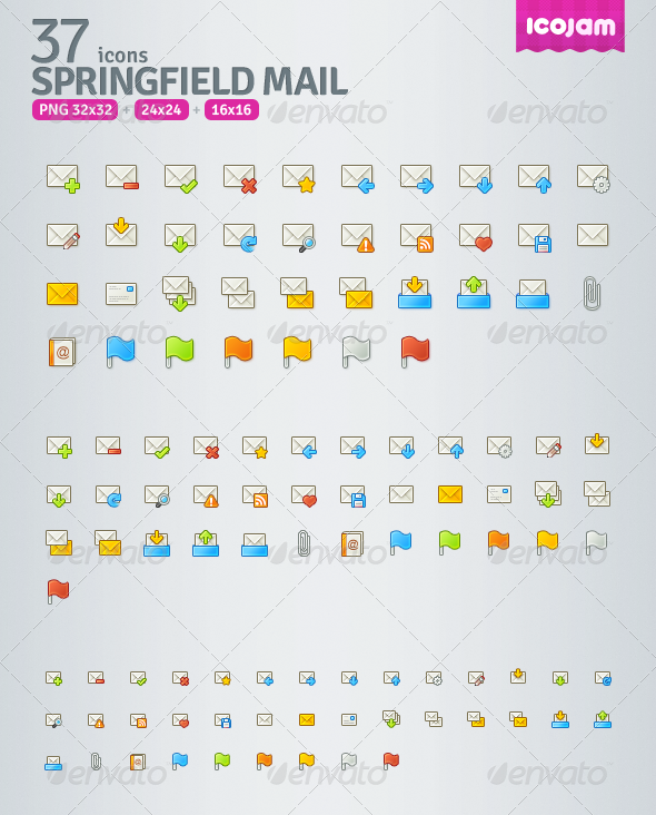 Springfield Mail - Web Icons