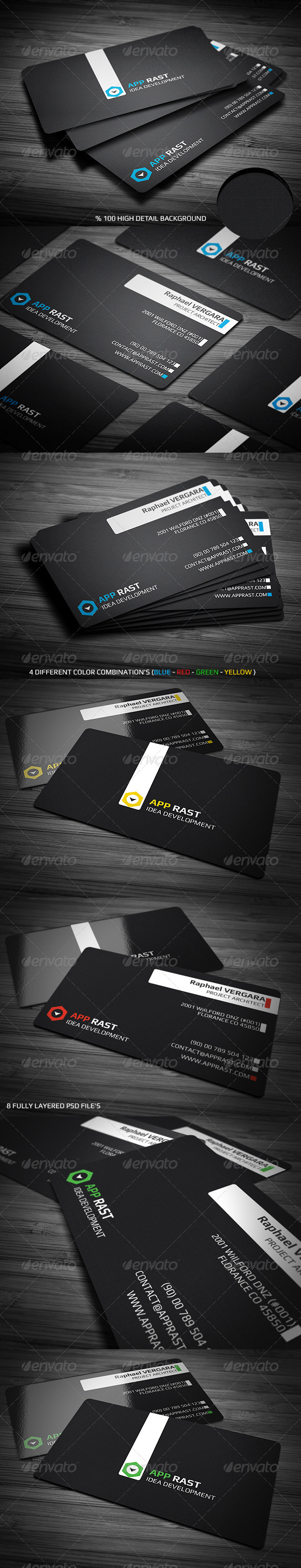 Black Corporate Business Card - Corporate Business Cards