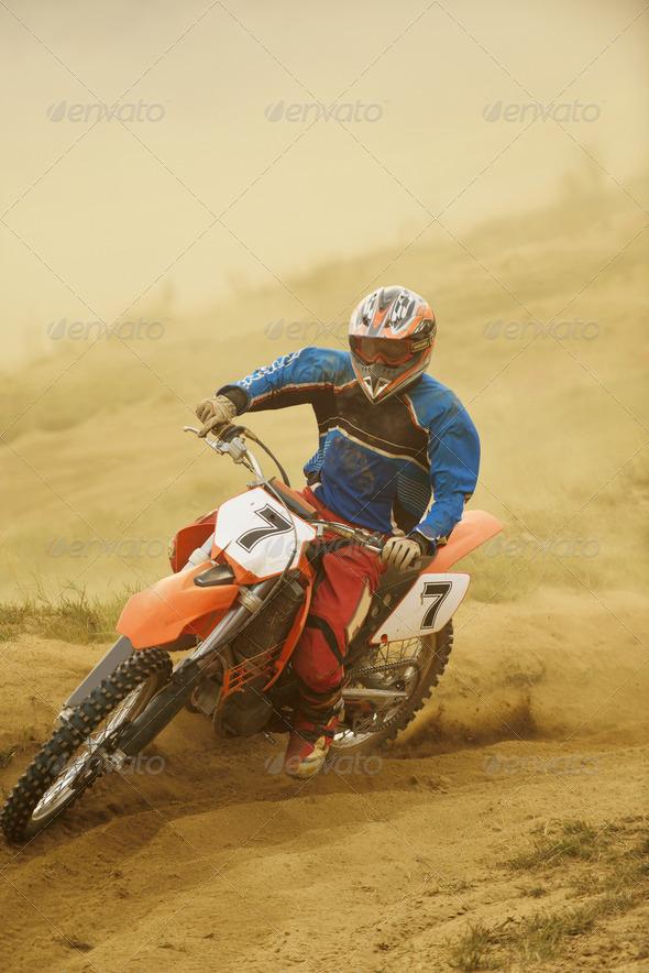 motocross bike - Stock Photo - Images