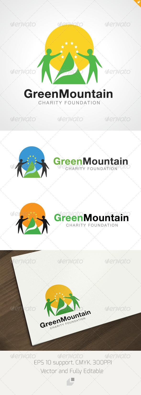 Geren Mountain Charity Foundation Logo - Nature Logo Templates
