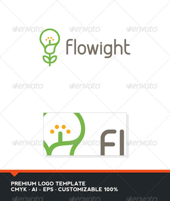 Flowight Logo Template - Nature Logo Templates