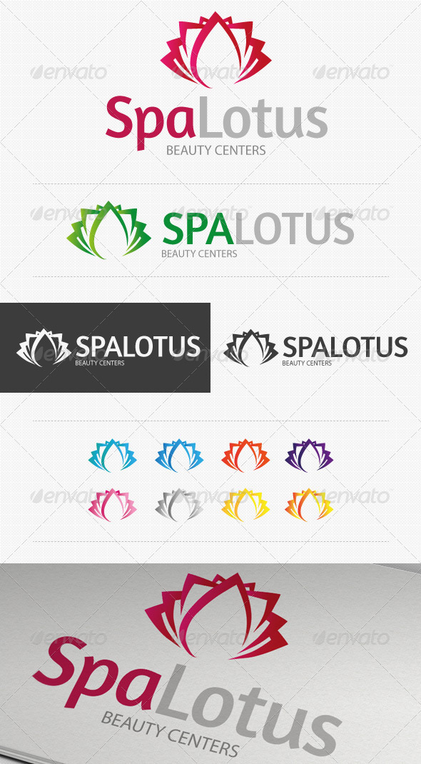Spa Lotus Beauty Center Logo - Symbols Logo Templates