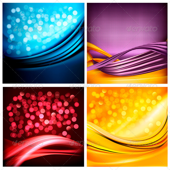 Set of business elegant colorful abstract backgrou - Backgrounds Decorative