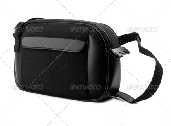bag for a camera isolated on a white background - Stock Photo - Images