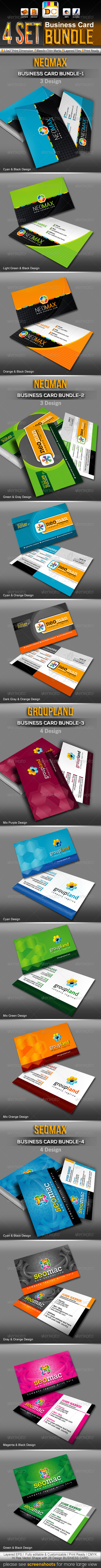Corporate Business Card Mega Bundle Pack - Corporate Business Cards