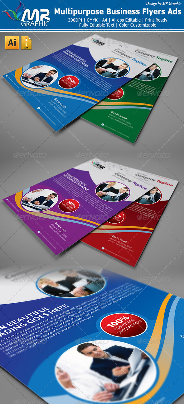Multipurpose Business Flyers Ads - Corporate Flyers