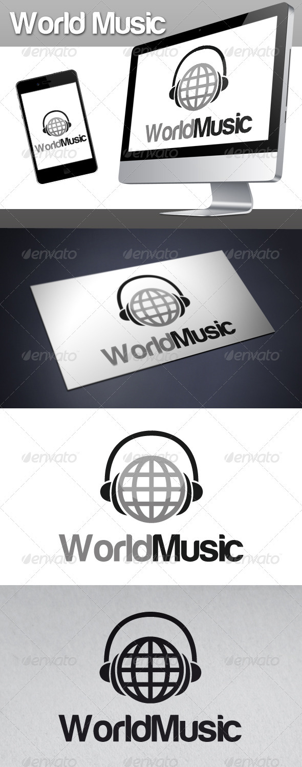 World Music Logo - Objects Logo Templates