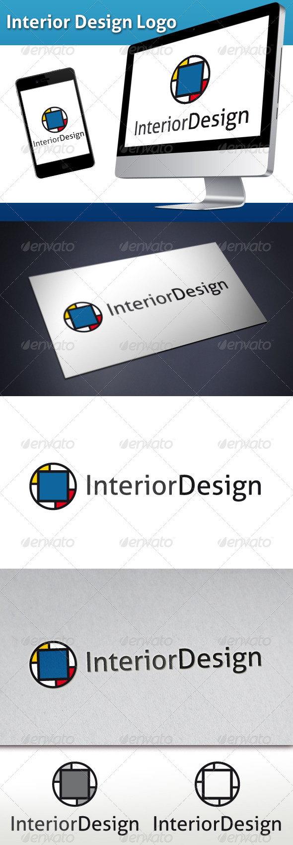 Interior Design Logo - Abstract Logo Templates