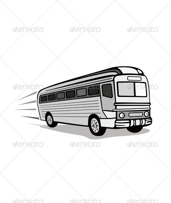 Shuttle Coach Bus Retro - Travel Conceptual