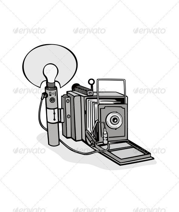Vintage Camera Flash Bulb - Media Technology