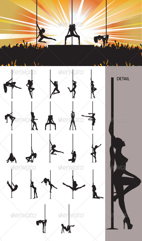 Pole Dancer Silhouette - People Characters