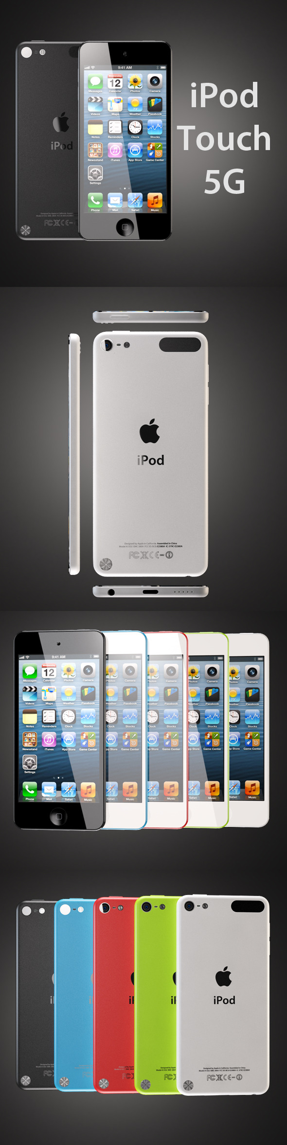 iPod touch 5G - 3DOcean Item for Sale