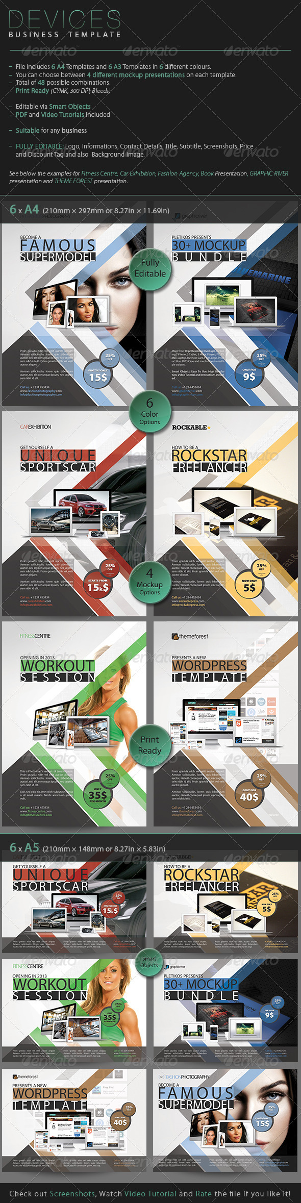 Devices - Business Template - Corporate Flyers