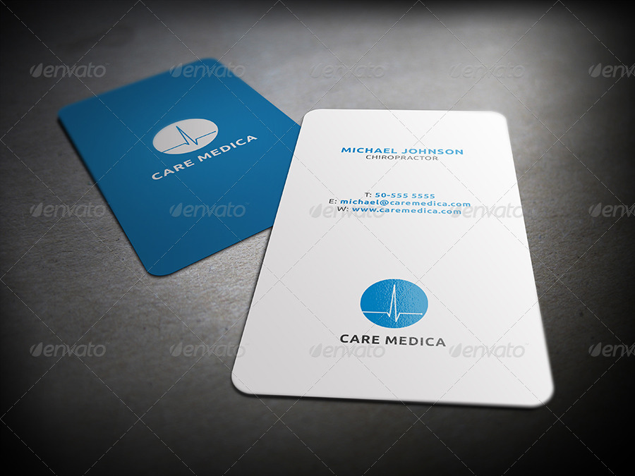mnmed minimal medical business card - Medical Business Cards