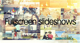 Full Screen Slideshows