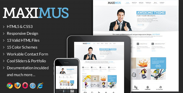 Maximus – Responsive Multi-Purpose Website Templat