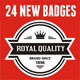 24 New Badges & Signs - GraphicRiver Item for Sale