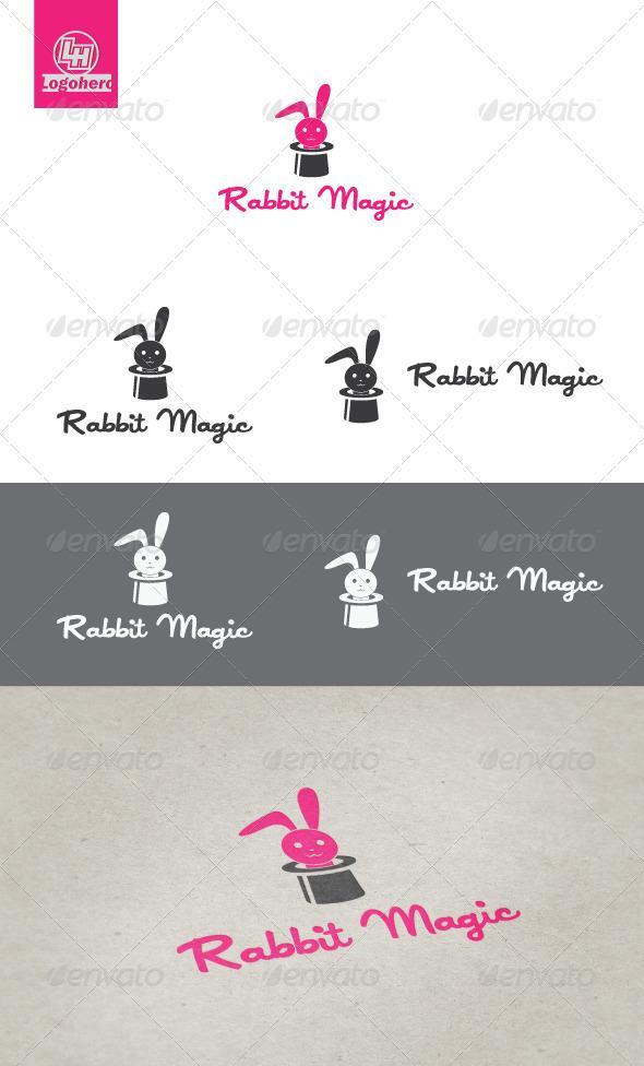 Rabbit Magic Logo Template - Animals Logo Templates