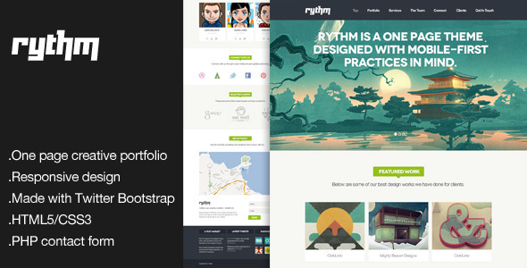 Rythm – One Page Responsive HTML5 Template