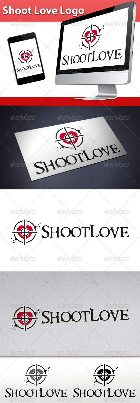 Shoot Love Logo - Symbols Logo Templates