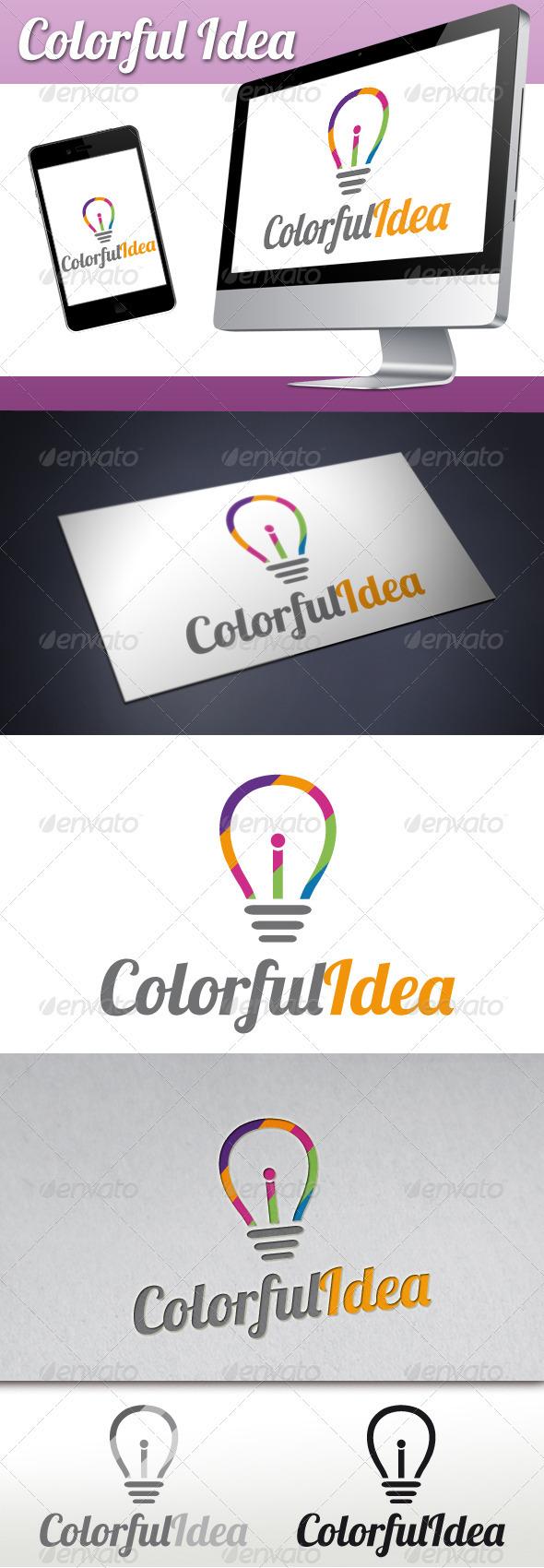 Colorful Idea Logo - Objects Logo Templates