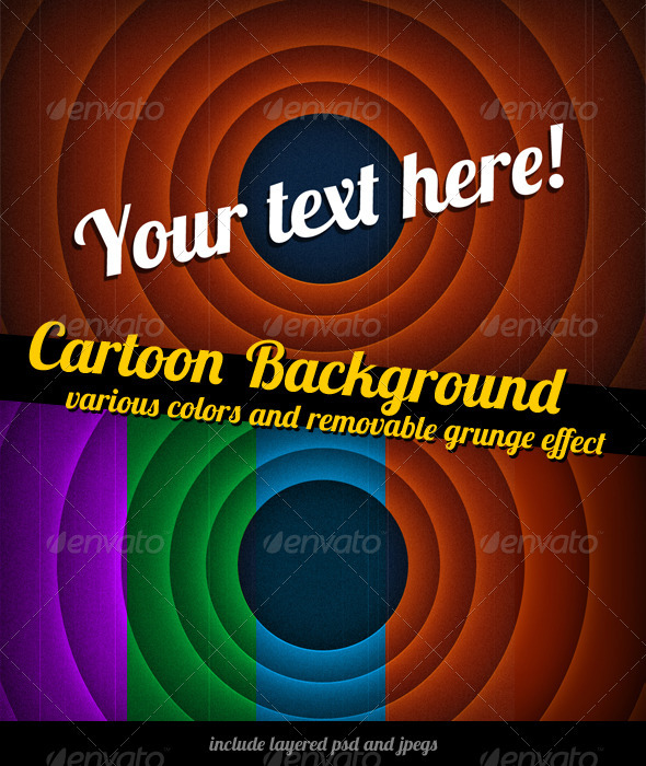 """Cartoon  """"The End"""" Background - Miscellaneous Backgrounds"""