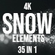 Christmas Snow Elements - VideoHive Item for Sale
