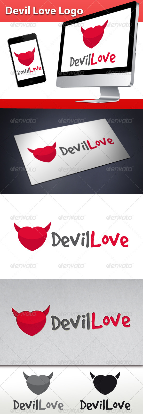 Devil Love Logo - Symbols Logo Templates