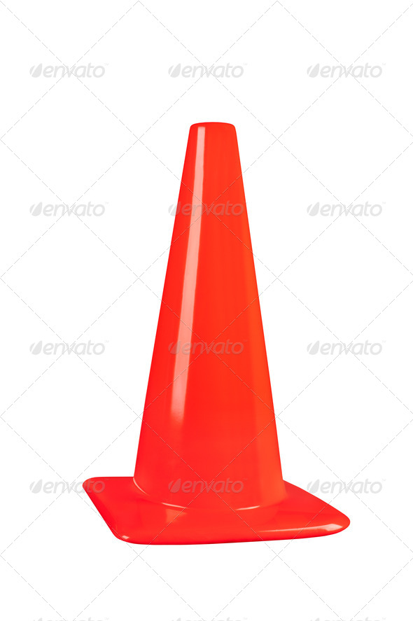 Safety cone - Stock Photo - Images